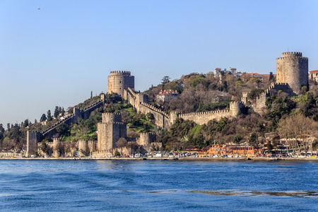 hisari: Rumelihirari Rumelian castle on the Bosphorus, Istanbul