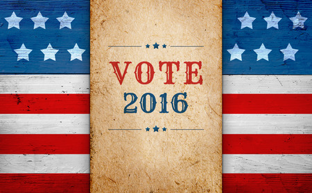 United States presidential election day 2016, message Vote, patriotic background Stock fotó