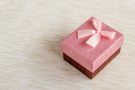 Romantic pink gift box background