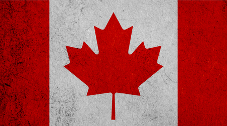 Flag of Canada, Canadian banner on paper background Stock fotó