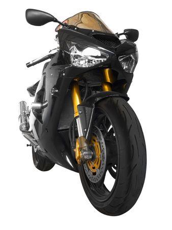 ciclos: Motocicletas deportivas en negro sobre fondo blanco