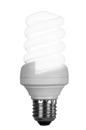fluorescence: fluorescence lamp of isolated on a white background Stock Photo