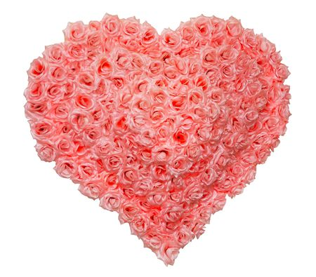 Valentines Day Rose Heart on White Background photo