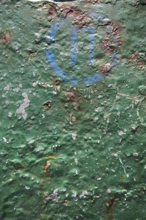 metal background with an old green paint Stock Photo - 7164599