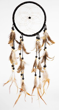 indian dreamcatcher on a white background photo