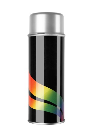 propellant: graffiti spray can isolated on white background Stock Photo