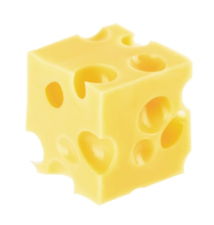 cheddar cheese: piece of cheese isolated on a white background Stock Photo