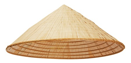 conical: Asian conical hat isolated on white