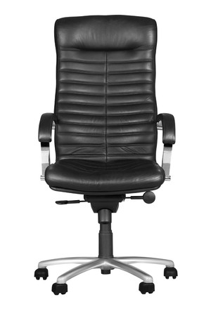 Black office armchair isolated on white background. Stock Photo - 7828129