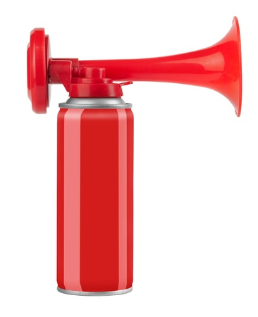 Air horn isolated on white background