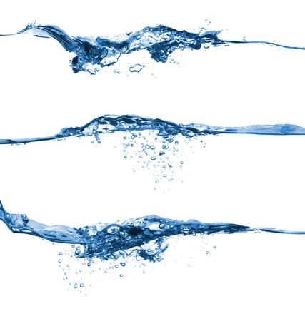 Set of water splashing isolated on white background
