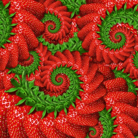 Abstract background of ripe strawberry photo