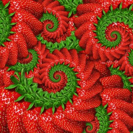 Abstract background of ripe strawberry Standard-Bild