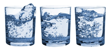 Set of glasses with water splash Stock Photo - 8660958