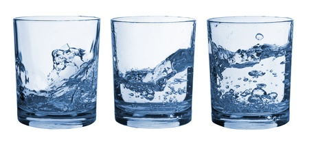 Set of glasses with water splash Stock Photo - 8660956