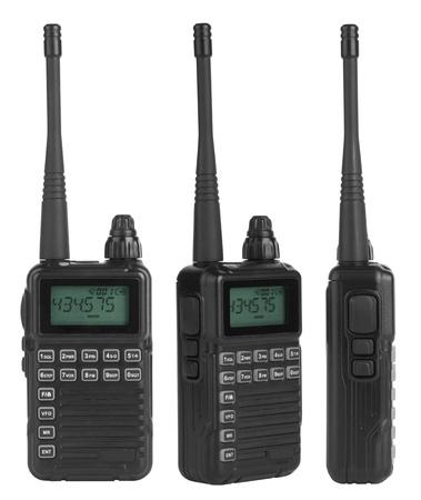 handheld: Portable radio sets isolated on white background