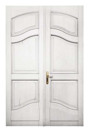 Door isolated on white background photo