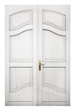 Porta isolata su sfondo bianco