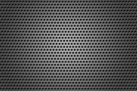 Metal Grid circles gray texture