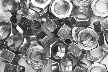 closeup of metal nuts background photo