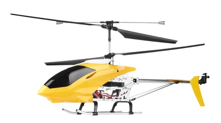 airfoil: Model radio-controlled helicopter isolated on a white background