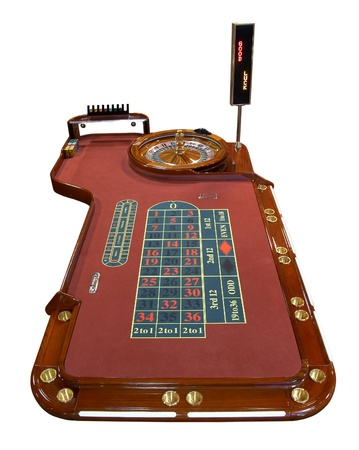 Roulette table isolated on white background photo