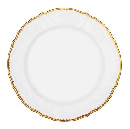 white plate isolated on white background Standard-Bild