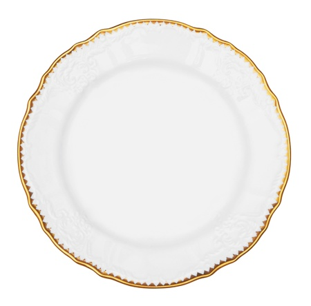 white plate isolated on white background Stock Photo
