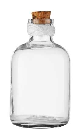 Old empty Bottle with cork Stock Photo - 10382921