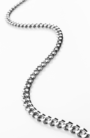 chain on white background, close up Stock Photo - 11267205