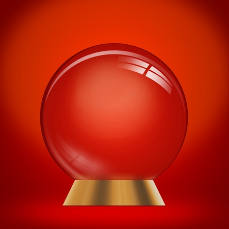 augur: empty dome against a red background - customize by inserting your own object Stock Photo