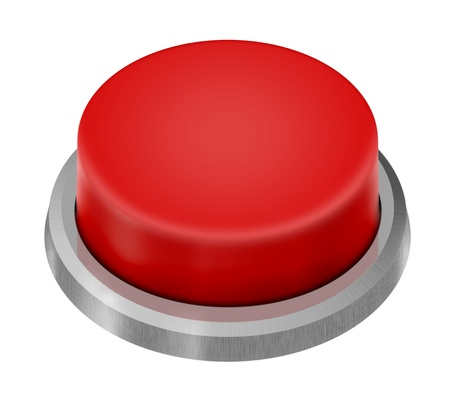 alarm button: Red Launch Button isolated on white