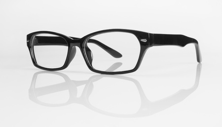 bifocals: glasses isolated on white background