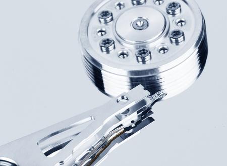 close up of hard disk photo