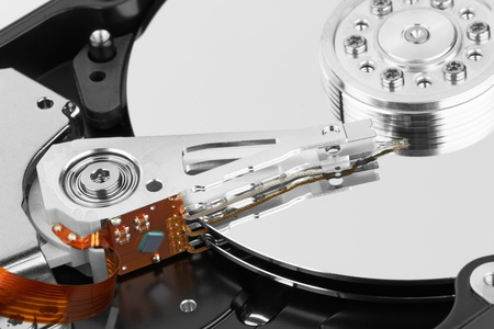 data recovery: close up of hard disk Stock Photo