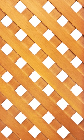 Wooden lattice isolated on white background photo