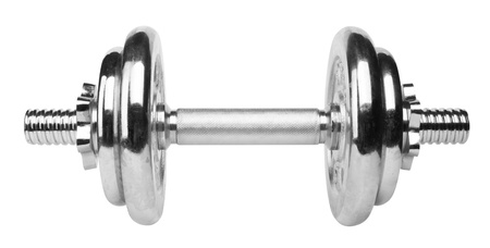 Dumbbell isolated on white background photo