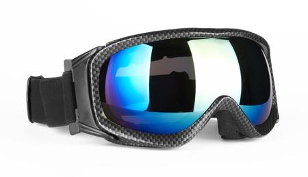 Skibrille auf dem weißen Hintergrund isoliert Standard-Bild - 12350779