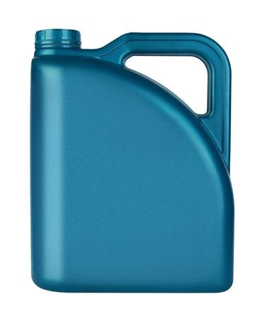 Kanister mit Maschinenöl isoliert auf weißem Hintergrund Standard-Bild - 12944830