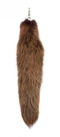 pelt: fur tail on a white background