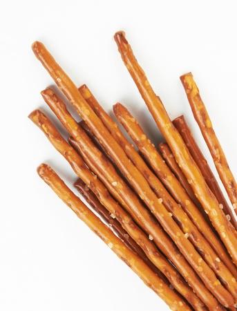 pretzels: closeup of a pile of pretzel sticks