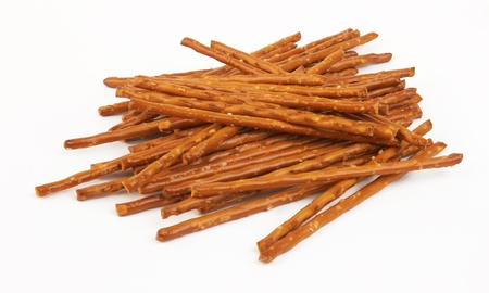 closeup of a pile of pretzel sticks Stock Photo - 12944908