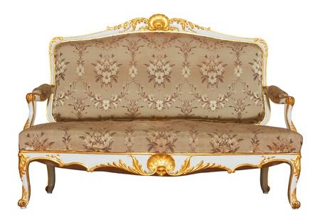 Vintage Sofa isolated on white background photo