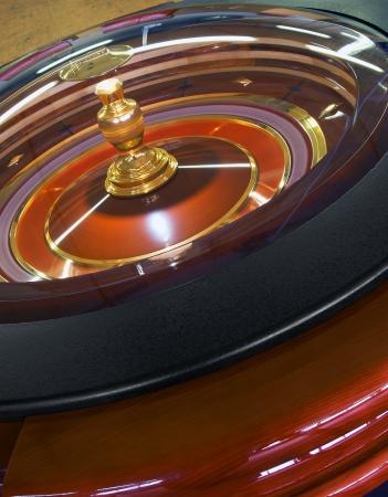ruleta de casino: Ruleta Casino rueda de rotación, primer plano