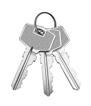 keys isolated: Keys isolated on white background Stock Photo