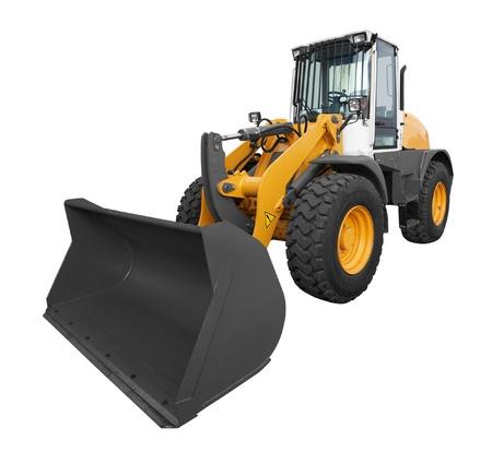 front loader: bulldozer aislado en fondo blanco