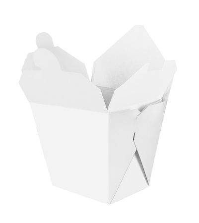 Blank Chinese food container isolated on white background Foto de archivo
