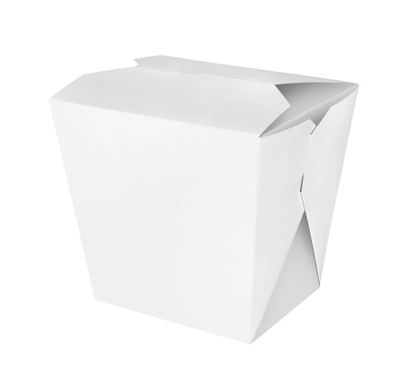 disposable: Blank Chinese food container isolated on white background Stock Photo
