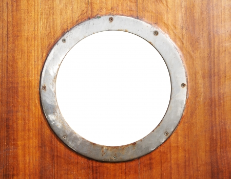 Old porthole with isolated window photo