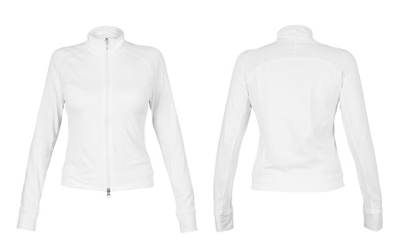 unbranded: Front and back white t-shirt isolated on white background